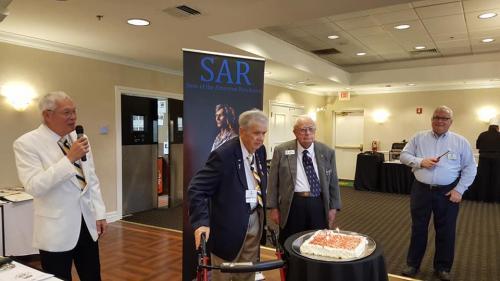 Celebrating 90th birthday Vern Freeman and 99th Hal Miller, Dec 2018