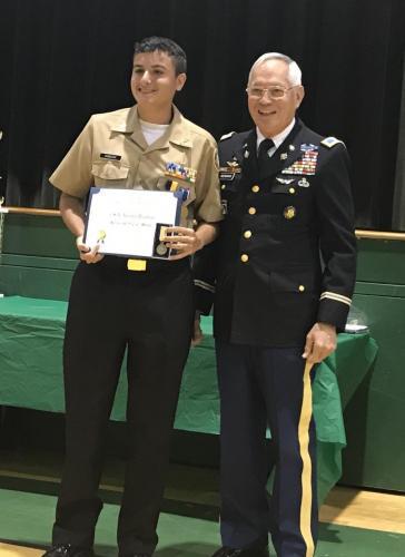 Cadet Austin Dziedzic, Gulf HS