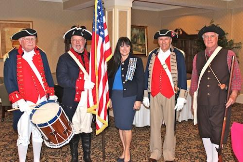 Joint color guard at Clearwater Chapter DAR, American Spirits luncheon