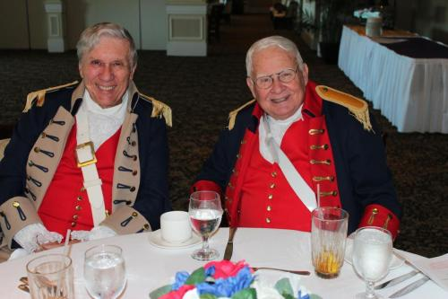 Compatriots Jim Gibson (l) and Jim Phillips