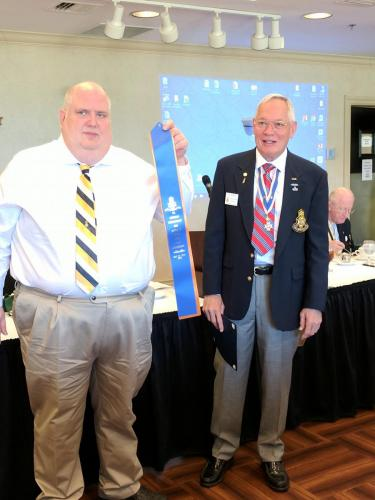 Sgt of Arms Russ Pebworth receives new streamer